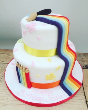 Rainbow Art Birthday Cake